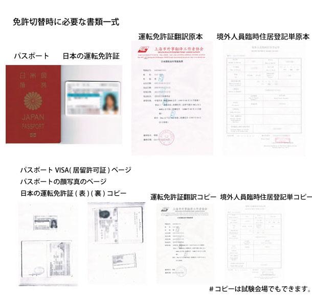 中国の運転免許切替時に必要な書類確認